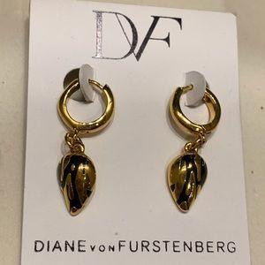 Diane Von Furstenberg!! ALGT Hoop Earrings